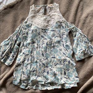 Off the shoulder flowy blouse